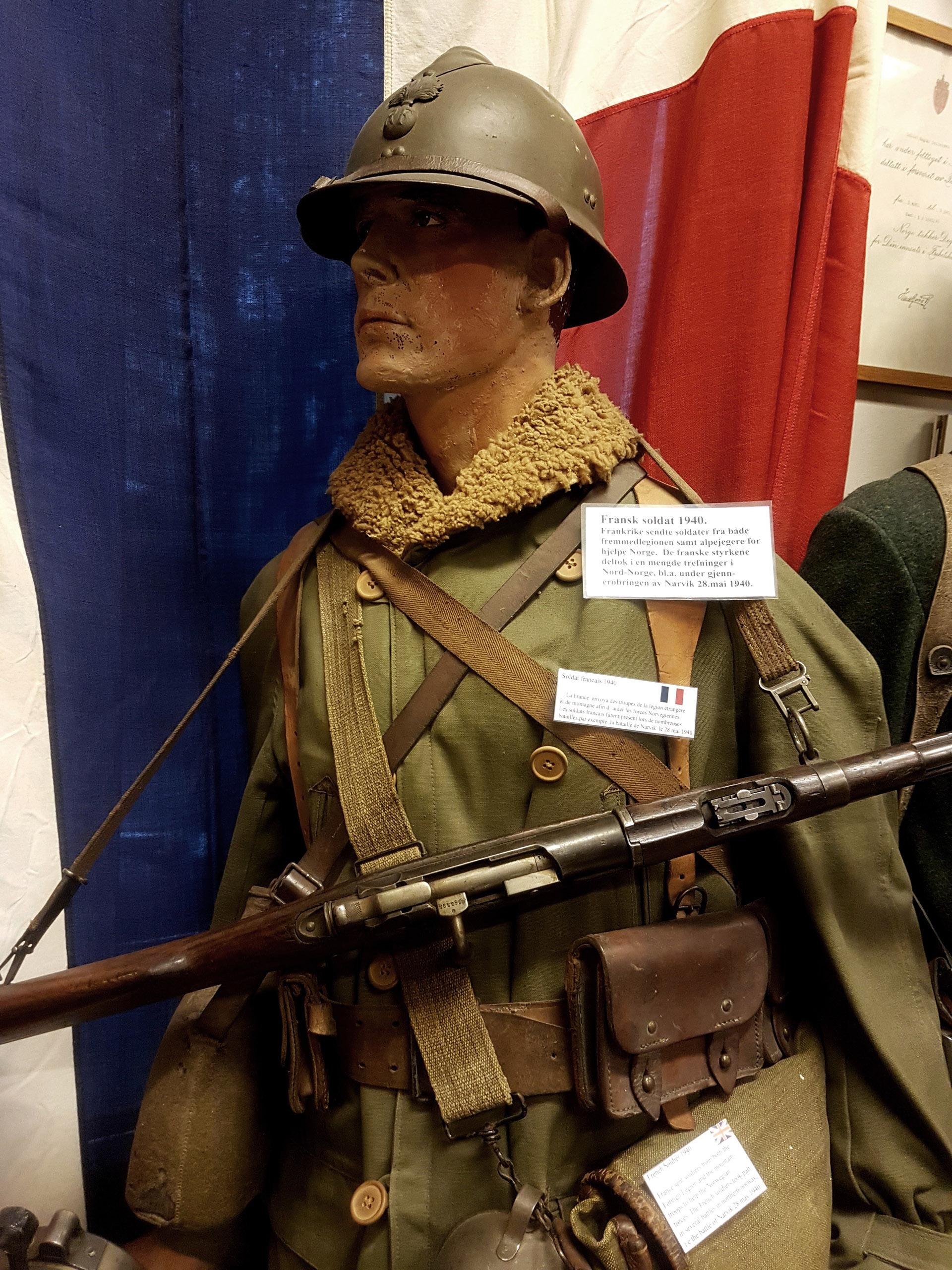 Fransk soldat i Norge 1940