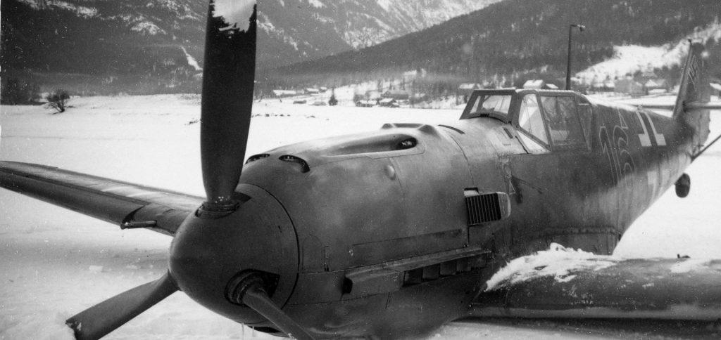 Tyskerne miste utrolig mange fly i Norge. Her har en messerschmitt 109 E krasjlandet  tidlig i krigen.
